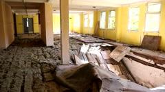 Abandoned military unit Stock Footage