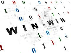 Business concept: Win-Win on Digital background Stock Illustration