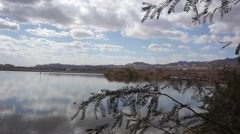 Eilat view from lake Stock Footage
