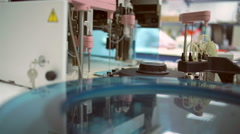 An medical laboratory. Testing water. Stock Footage