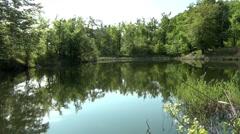 Lake on Mountain Stol Stock Footage