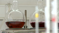 Wine laboratory. Stock Footage