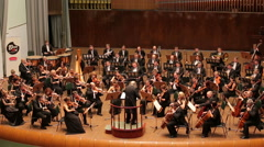 Symphony Orchestra, plays classic works Stock Footage