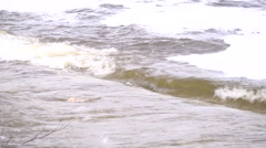 Big waves on the river Stock Footage