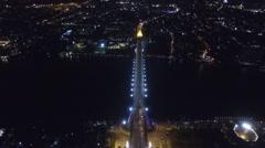 Rama 8 Bridge Bangkok Thailand Stock Footage