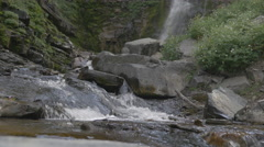 Mountian Waterfall flowing down Mount Timpanogos after snow melt. Stock Footage