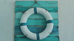 Lifebuoy on board Stock Footage
