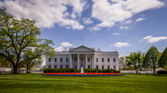 Timelapse of the White House, Washington DC, USA. - stock footage