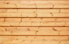 Unpainted wooden wall texture - stock photo