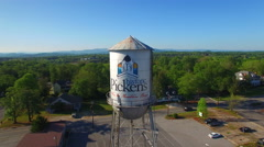 Pickens Water tower fly over Stock Footage