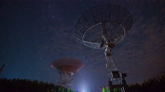 Timelapse of Starry Sky in Astronomical Station, Beijing, China. Stock Footage