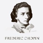 composer Frederic Chopin. vector portrait - stock illustration