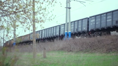 The movement of trains Stock Footage