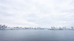 Over 5K Time Lpase - Tokyo Bay and buildings - stock footage
