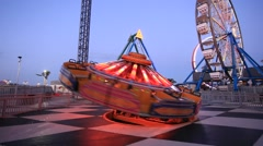 Kemah Boardwalk amusement park rides Stock Footage