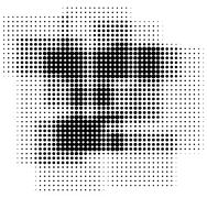 Retro halftone pop-art boxes background - stock illustration