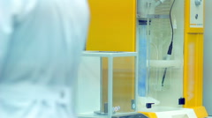Laboratory equipment. Laboratory research. Chemical reaction. Medical analysis Stock Footage