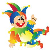 Funny clown jester Piirros