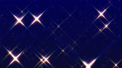 Glittering star glow abstract motion background Stock Footage