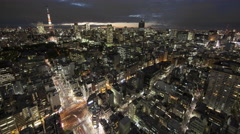 Over 5K Time Lpase - Tokyo Night View Stock Footage