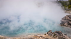 Timelapse of Excelsior Geyser Crater in Yellowstone National Park. Stock Footage