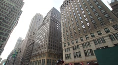 Hyperlapse in Midtown Manhattan in the Garment Disctrict Stock Footage