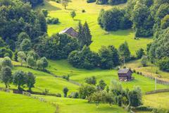 Landscape of Apuseni Mountains in Romania - stock photo