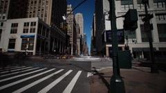 Panoramic Long Exposure Pan of 34th Street in Manhattan - stock footage