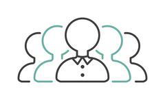 Business partner handshake negotiations icon symbol success team agreement Stock Illustration