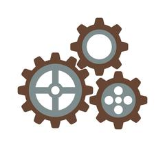 Cogwheel machinery and development gear icon mechanical technology wheel machine Piirros