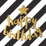 Set of beautiful birthday invitation cards decorated - stock illustration