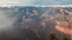 Timelapse of Grand Canyon National Park in Cloudy Day, USA. Stock Footage