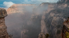 Timelapse of Grand Canyon National Park with Light Halo in Cloudy Day, USA. Stock Footage