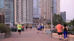 Jogger in Austin city. Texas, USA Stock Footage