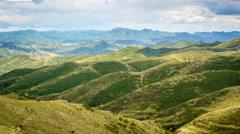 Timelapse of Mountains and Grassland in Zhangbei, Zhangjiakou, China. Stock Footage