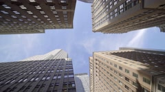 Modern high rise office buildings in the city. real estate architecture scene  Stock Footage