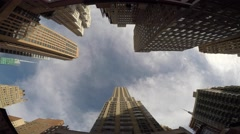 modern high rise office buildings in the city. real estate architecture scene  - stock footage