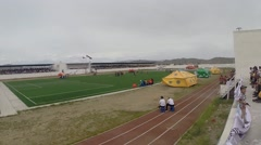 Mongolian Stadium During the Naadam Festival Stock Footage