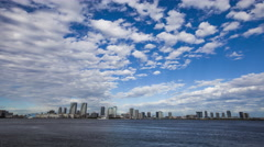 Over 5K Time Lpase - Tokyo bay and Sky Stock Footage