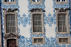 Ornate tiling and windows of building Stock Photos