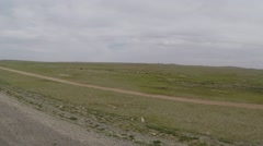 Movement Along the Road in the Mongolian Steppe at Low Speed Pov Stock Footage