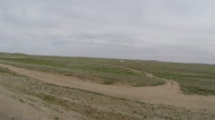 Motion on the Road in the Mongolian Steppe Pov Stock Footage