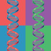 DNA pop art - composite grid - stock illustration