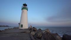Santa Cruz Walton lighthouse Stock Footage