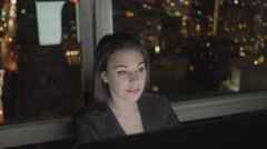 successful business women working on computer desk analyzing financial profits - stock footage
