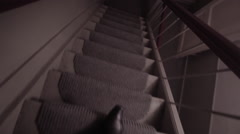 Fast.Down the stairs. Netherland building, Amsterdam, Holland Stock Footage