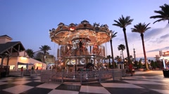 Carousel at the Kemah Boardwalk Stock Footage