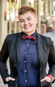 Smiling Dapper Gender Fluid Young Woman Stock Photos