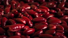 Red Kidney Beans Rotating Closeup Stock Footage
