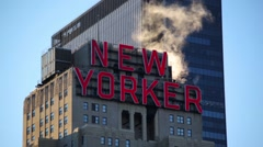 New Yorker Sing On A Sunny Morning Stock Footage